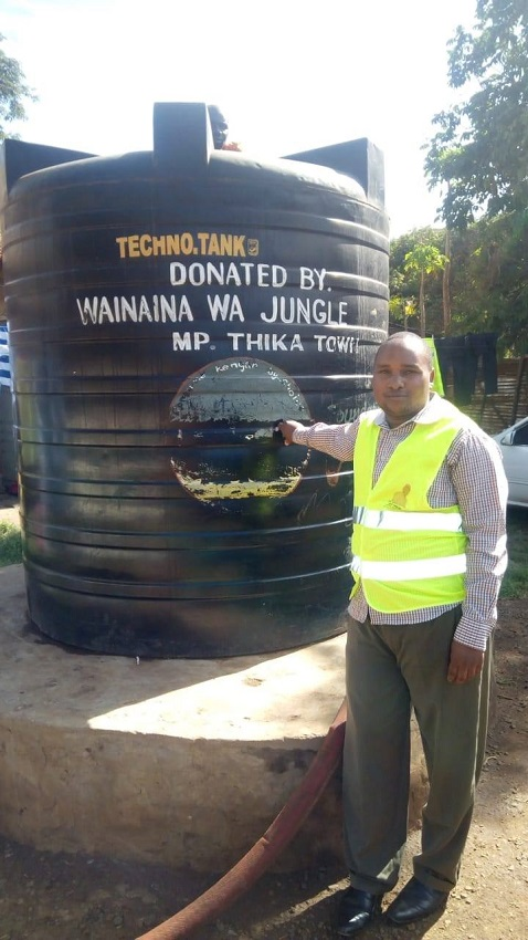 6000 litres of water to Makongeni Police Post