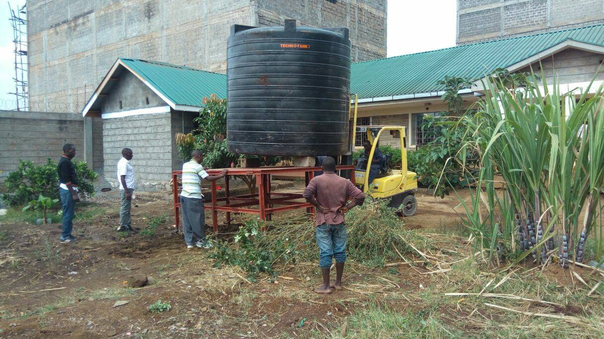 Water Tank Donation At Moyo Children's home